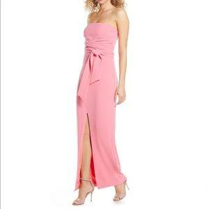 Lulu's Own the Night Strapless Maxi Dress
